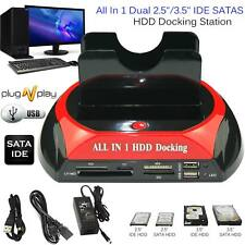 2.5? 3.5? SATA IDE HDD Hard Drive Disk Clone Holder Dock All In1 Docking Station