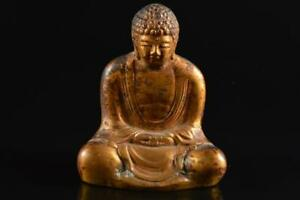 #4783: XF Japanese Copper BUDDHIST STATUE sculpture Ornament Buddhist art