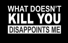 """""""What Doesn't Kill You Disappoints Me"""" Vinyl Decal Sticker Car Truck MADE IN USA"""