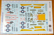 Microscale Decal #AC72-0055 F-8E Crusader VF-25 449 / F-8E Crusader VF-84 207