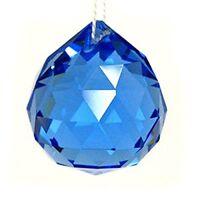 30mm Vintage Crystal Blue Feng Shui Ball LW