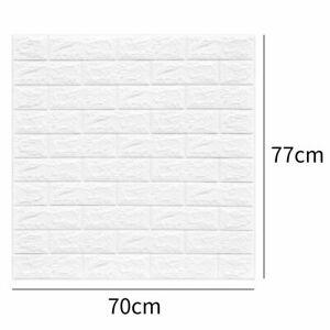 10x Large 3D Tile Brick Wall Sticker Self-adhesive Waterproof Foam Panel 70x77CM