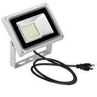 20W LED Flood Light Outdoor Outside Spotlight Security Wall Lighting With Plug