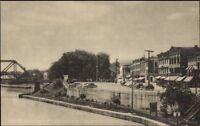 Whitehall NY Canal & Main St. Postcard