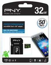 PNY 32GB Class 10 UHS-I micro SD SDHC mobile memory card High Speed plus Adapter