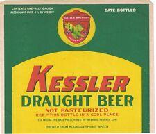 Kessler Draught Beer Tax Paid Label