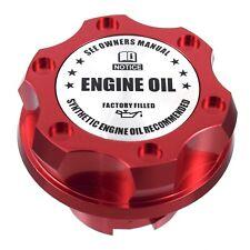 Red Billet Racing Engine Oil Cap Filler Silver Engine Emblem For Ford 1/4 Turn