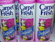 3 CARPET FRESH, Rug & Room Deodorizer Powder, Vacuum ,POTPOURRI