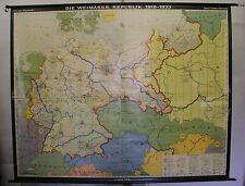 Schulwandkarte Wandkarte Schulkarte Deutschland Weimarer Republik 18-33 240x191