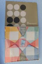 "Vintage 1950s Dunmoy Irish table linen Rayon cloth 36"" square 4 napkins UNUSED"