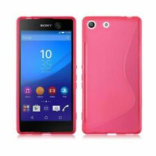 FOR SONY XPERIA M5 S-LINE TPU SILICONE GEL CASE COVER CASE PINK