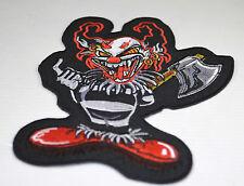 Patch ecusson Clown diabolique , custom,  harley, moto; biker,