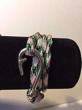 Adjustable Wrap Paracord Fish Hook Bracelet