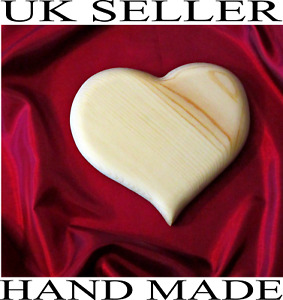 Sweet gift wooden HEART solid hard wood plain blank HOME DECORATION any size