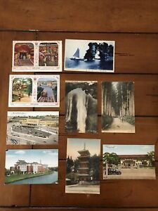 Lot Vintage Colorized Postcards From Japan Scenic, Pagodas Children 19