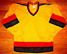 * Vintage VANCOUVER CANUCKS * 80s BRAND NEW Authentic CCM Blank Youth Jersey S/M