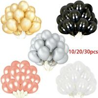 "30pcs 12"" Pearl Latex Balloons Birthday Wedding Party Decorations Helium Balloon"