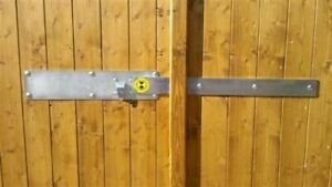 Doppel Querriegel Garagen Türriegel Torriegel Aufbruchschutz Sicherheitsriegel