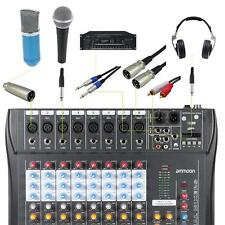 8 Channel Live Studio Audio Mixer Console for Recording DJ Karaoke EU S2T8