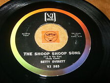 BETTY EVERETT - THE SHOOP SHOOP SONG - HANDS OFF  / LISTEN - GIRL SOUL POPCORN
