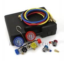 4 Way AC Diagnostic Manifold Gauge Set Ideal For R410A R22 R134A HVAC