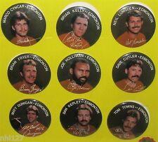 HTF ! 1984 CFL Football Edmonton Eskimos SET Photo Buttons Badges Nutty Club