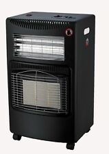 FoxHunter Portable Butane Fire Calor Gas Electric Cabinet Heater 4.2KW Anti Tilt