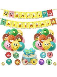 HASAKA Spongebob Party Supplies, Spongebob Birthday Party Supplies Include Happy