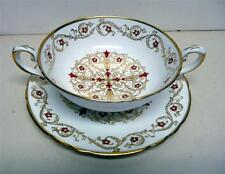 TUSCAN-FINE BONE CHINA-PATTERN-RICHELIEU F159-CREAM SOUP CUP&SAUCER-RARE-ENGLAND