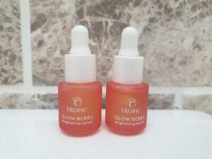 2× Tropic Skincare Glow Berry Brightening Serum 5ml each