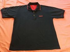 Vintage Maxtor Computer Technology Employee Polo shirt Medium 90s Black Red