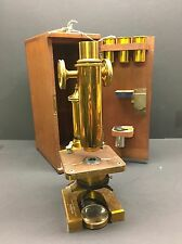 Rare Antique R & J Beck London Brass Microscope 19th Century Williams Brown Earl