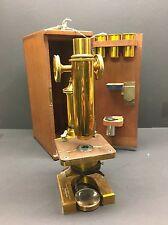 Rare Antique R & J Beck London Brass Microscope 19th Century Williams Brown Earl