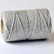 10M Silver Sparkle Bakers Glitter Twine Gift Wrap String Wedding Xmas