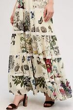 ANTHROPOLOGIE Stemswept tiered maxi skirt/floral print/lined/NWT/gorgeous! WM