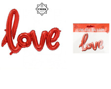 FOIL BALLOON LOVE LETTER 75cm Inflatable Balloons Valentines Day Gift VAL2712 UK