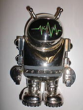 """Fantasy Large 4"""" Silver Tone 3D Robot Belt Buckle w/ Movable Arms"""