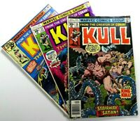 MARVEL Comics KULL THE DESTROYER (1971) #20 22 29 Bronze Age LOT Ships FREE!