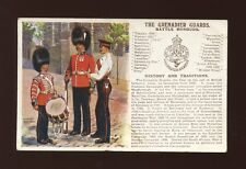 Military GRENADIER GUARDS Battle Honours artist Ibbetson c1910s? PPC pub G&P
