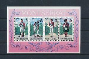 LO40869 Montserrat soldier uniforms good sheet MNH