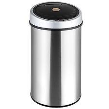 Edelstalen afvalemmer vuilnisbak prullenbak automatisch met sensor 50 liter