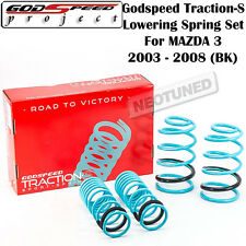 GODSPEED TRACTION-S LOWERING COIL SPRINGS SUSPENSION FOR MAZDA 3 2003-2008 BK