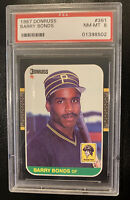 1987 Donruss Barry Bonds #361 PSA 8 NMMT Pittsburgh Pirates Rookie Card