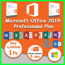 🔥Microsoft Office 2019 Professional Plus Key 32/64 Bit Instant Delivery🔥