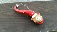 Christmas Bear with Long Santa Claus hat Christmas Tree Ornament Decorations