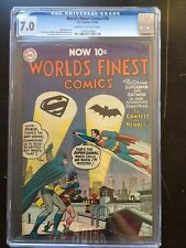 WORLD'S FINEST COMICS #74 CGC FN/VF 7.0; CM-OW; scarce! last pre-code issue!