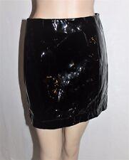 Mika & Gala Designer Black Shinny Plastic Mini Skirt Size 10 BNWT #SY89