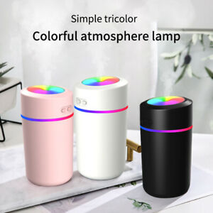 USB Portable Air Humidifier Bottle Aroma Diffuser Mist Maker Colorful lights