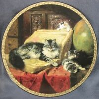 The Geographers Collector Plate First Feline Fancy Henriette Ronner Cats Kittens