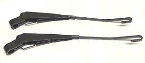 CLASSIC MINI WIPER ARMS PAIR HOOK RHD DKB101480 BLACK HOOKED ROVER COOPER 5E4